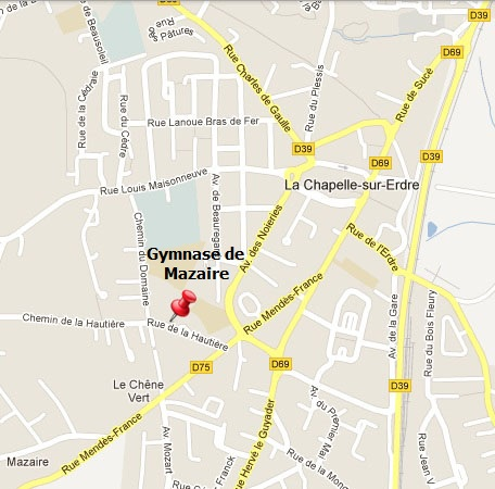 Plan accès Gymnase de Mazaire